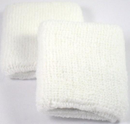 Plain White Sweatband / Armband