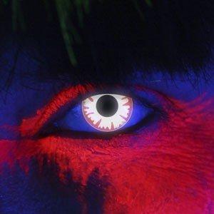 Edit's iGlow Range White Demon Contact Lenses