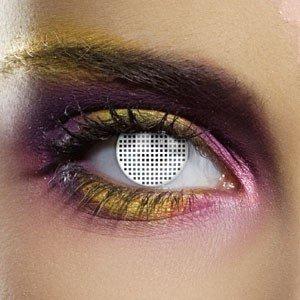 Edit's Colour Vision Range White Mesh Contact Lenses