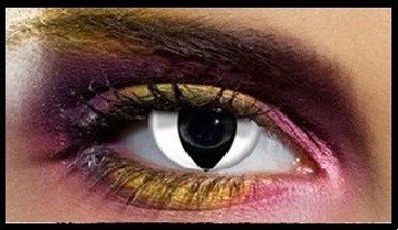 90 Day Wear White Cats Eye Cosmetic Contact Lenses