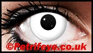 Crazy White Out Block Contact Lenses