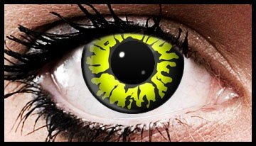 90 Day Wear Yellow Wolf Eye Cosmetic Contact Lenses