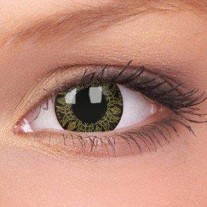 ColourVue Yellow Batik Crazy Contact Lenses