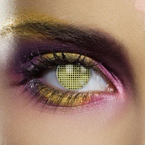 Edit's Colour Vision Range Yellow Mesh Contact Lenses