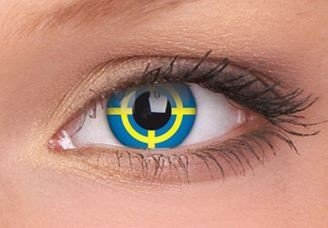 ColourVue Yellow Target Crazy Contact Lenses