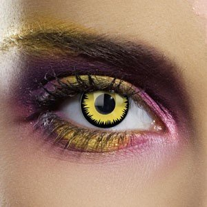 Edit's Colour Vision Range Yellow Werewolf Contact Lenses