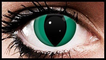 90 Day Wear Green Cats Eye Cosmetic Contact Lenses
