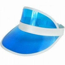 Blue Poker Dealer / Sun Visor Hat