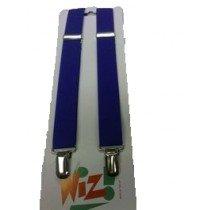Children's Plain Royal Blue Braces By Wiz
