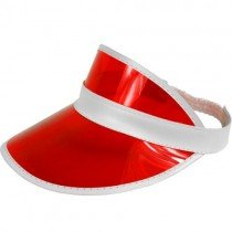 Red Poker Dealer / Sun Visor Hat