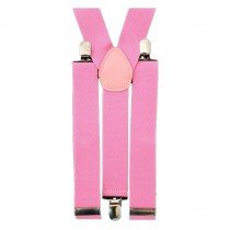 Unisex Plain Baby Pink 38mm Fashion Braces