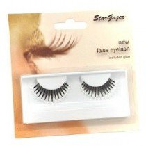 Stargazer Reusable False Eyelashes Black & White Beads 39
