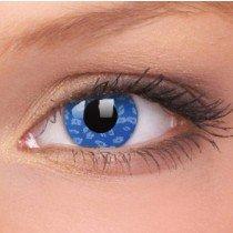 ColourVue Blue Leopard Crazy Contact Lenses