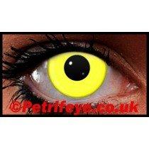 Yellow Neon UV Reactive Coloured Contact Lenses