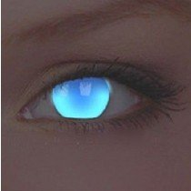 ColourVue Electric Blue UV Glow Crazy Contact Lenses
