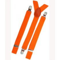 Unisex Plain Neon Orange 25mm Fashion Braces