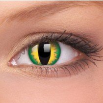 ColourVue Green Dragon Crazy Contact Lenses