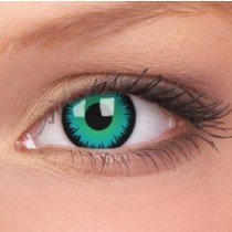 ColourVue Green Werewolf Crazy Contact Lenses