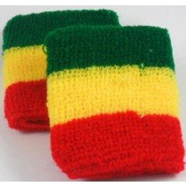 Red Yellow Green Jamaican Flag Colours Rasta Design Sweatband Armband