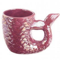 Enchanted Seas 3D Pink Purple Iridescent Mermaid Tail Mug