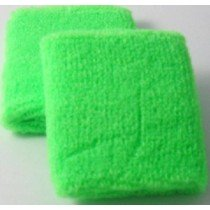Neon Green Sweatband / Armband For Rave Party Festival