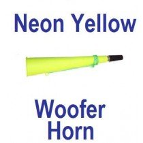 Neon Yellow Rave Party Woofer Horn
