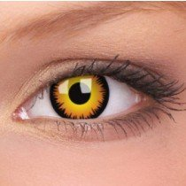 ColourVue Orange Werewolf Crazy Contact Lenses