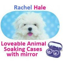 White Puppy Rachel Hale Contact Lens Soaking Case