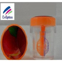 Peach Fruit Contact Lens Storage Soaking Barrel Case