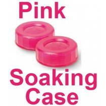 Neon Pink Contact Lens Soaking Case -Translucent Style