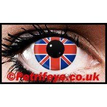 Union Jack Patriotic Flag Contact Lenses