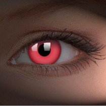 ColourVue Red UV Glow Crazy Contact Lenses