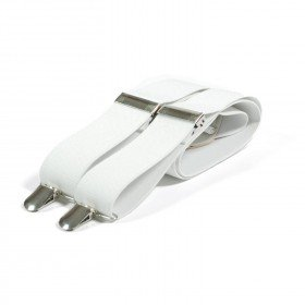 Unisex Plain White 38mm Fashion Braces