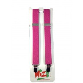 Children's Plain Dark Pink Braces By Wiz