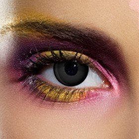 1 Day Use Blackout Crazy Coloured Contact Lenses