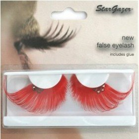 Stargazer Reusable False Eyelashes Red and Diamonte 64