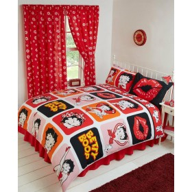 Double Size Official Betty Boop Picture Perfect Design Duvet Cover & Matching Pillowcases