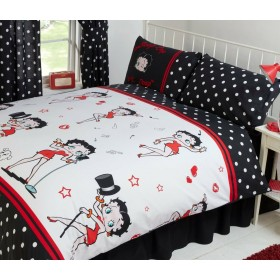 Double Size Official Betty Boop Picture Superstar Design Duvet Cover & Matching Pillowcases
