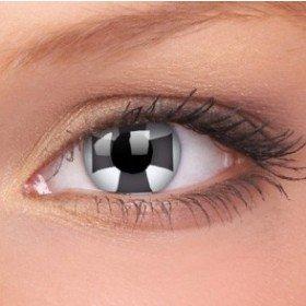ColourVue Black Cross Crazy Contact Lenses