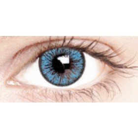 Glamour Blue Coloured Contact Lenses 30 Day