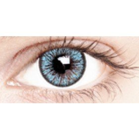 True Blue Coloured Contact Lenses 30 Day