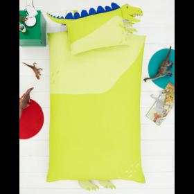 Single Size 3D Dinosaur Reversible Design Duvet Cover & Matching Pillowcase