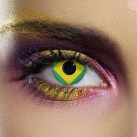 Edit's Flag Range Brazil Contact Lenses