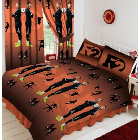 Official F2 Freestylers Football Double Duvet Quilt Cover Set