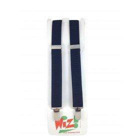 Children's Plain Navy Blue Braces By Wiz