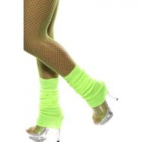 Fancy Dress Or Clubbing Legwarmers Neon Green