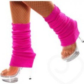 Fancy Dress Or Clubbing Legwarmers Neon Pink