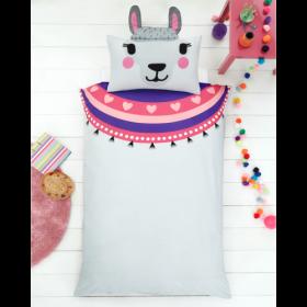 Single Size 3D Llama Reversible Design Duvet Cover & Matching Pillowcase