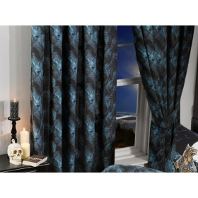 "66""x72"" Alchemy Loups Garou Design Gothic Curtains & Tie Backs"