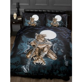 Super King Size Alchemy Loups Garou Design Gothic Duvet Cover & Matching Pillowcases
